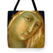 The Virgin And Child On A Throne Fragment 1311 Tote Bag
