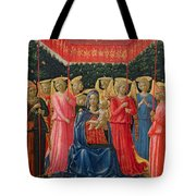 The Virgin And Child With Angels Tote Bag