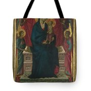The Virgin And Child With Four Angels Tote Bag