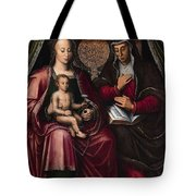 The Virgin And Child With Saint Anne Tote Bag