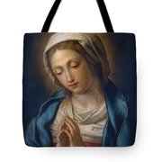 The Virgin At Prayer Tote Bag