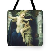 The Virgin Baby Jesus And Saint John The Baptist Tote Bag
