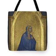 The Virgin   Left Pinnacle Panel Tote Bag