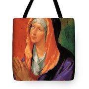 The Virgin Mary In Prayer Tote Bag