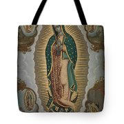 The Virgin Of Guadalupe With The Four Apparitions Tote Bag