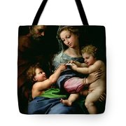 The Virgin Of The Rose Tote Bag