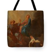 The Virgin Placing St Teresa Under The Protection Of St Joseph Tote Bag