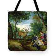 The Vision Of Saint Hubert Tote Bag