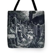 The Vision Of The Valley Of Dry Bones 1866 Tote Bag