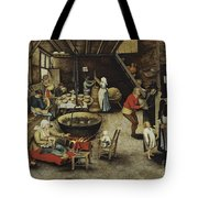 The Visit To The Farm Tote Bag