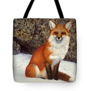 The Wait Red Fox Tote Bag