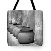 The Wall Of Pots Tote Bag