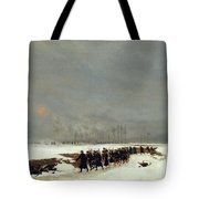 The War Of 1870 An Infantry Column On Their Way To A Raid Tote Bag