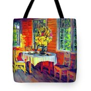 The Warmth Of Home Tote Bag by Isabella Howard