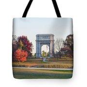 The Washington Memorial At Valley Forge Panorama Tote Bag