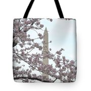 The Washington Monument At The Cherry Blossom Festival Tote Bag