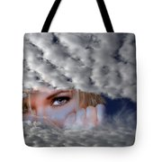 The Watcher Above Tote Bag
