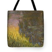 The Water Lilies, Setting Sun Tote Bag