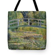 The Waterlily Pond With The Japanese Bridge Tote Bag