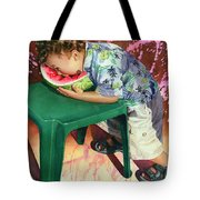 The Watermelon Eater Tote Bag by Marguerite Chadwick-Juner