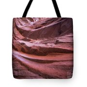 Red Wave Tote Bag