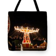 The Wave Swinger Ride Navy Pier Chicago Tote Bag