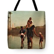 The Way From The Village. Time Of Inundation. Egypt Tote Bag