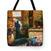 The Way We Were - The Blacksmith - Paint Tote Bag