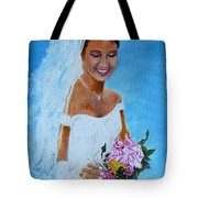 the wedding day of my daughter Daniela Tote Bag
