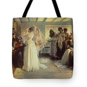 The Wedding Morning Tote Bag by John Henry Frederick Bacon