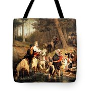 The Wedding Trek Tote Bag by Adolphe Tidemand