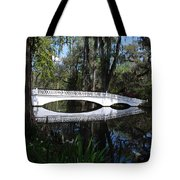 The White Bridge In Magnolia Gardens Charleston Tote Bag