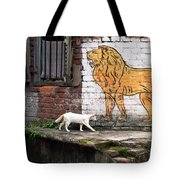 The White Cat Tote Bag