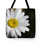 The White Daisy Tote Bag by Danielle Allard