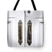 The White Double Doors Tote Bag