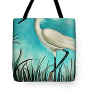 The White Egret Tote Bag
