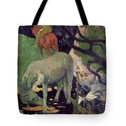 The White Horse Tote Bag by Paul Gauguin