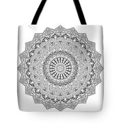 The White Mandala No. 3 Tote Bag