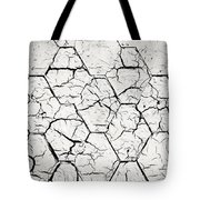 The White Painted Asphalt Shingle Tote Bag