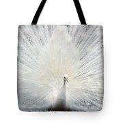 The White Peacock Tote Bag