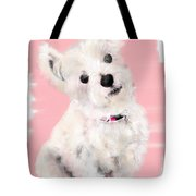 The White Pooch Tote Bag