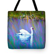 The White Swan Tote Bag by Bill Cannon