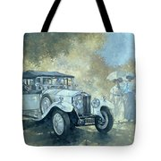 The White Tourer Tote Bag