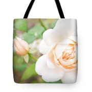 The White Washed Rose Tote Bag