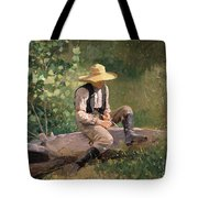 The Whittling Boy Tote Bag