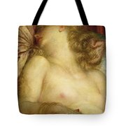 The Wife Of Plutus Tote Bag by George Frederic Watts