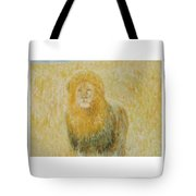 The Wild  Lion Tote Bag