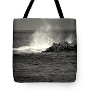 The Wild Pacific In Black And White Two Tote Bag