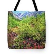 The Wildflowers Of Lundy Canyon Tote Bag