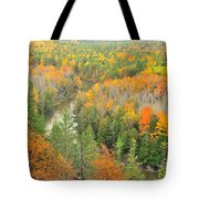 The Winding Manistee River Tote Bag